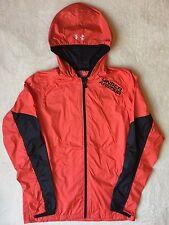 UNDER ARMOUR Cold Gear Loose Light Packable Windbreaker Rain Coat Hooded Jacket