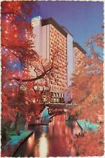 Palacio del Rio Hotel Hilton SAN ANTONIO Riverwalk Texas Postcard Bridge Tree