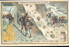 Chromo Liebig Scènes de manoeuvres en Italie 2 avalanche armée soldat