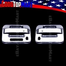 For Ford F150 2004-2013 2014 Chrome 2 Door Handle Covers WITH Keypad & Keyholes