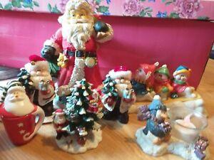 Christmas ornaments santa-snowman ect resin bundle