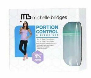 Michelle Bridges Portion Control 4 Piece Set Brand New