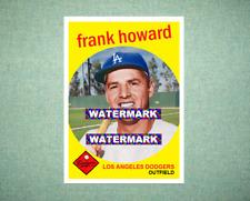 Frank Howard Los Angeles Dodgers 1959 Style Custom Baseball Art Card