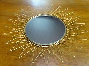 Miroir Soleil Vintage Doré Repliable