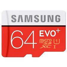 Samsung 64GB EVO Plus Micro SDXC UHS-I U1 Class 10 Memory Card 80MB/s Adapter