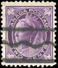 1897 Used Canada 2c F+ Precancel Scott #68xx Queen Victoria Maple Leaf Stamp