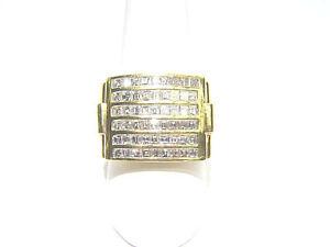 DIAMOND 54 ASSCHER SHAPE DIAMOND CHANNEL SET MENS DIAMOND RING DIAMOND BAND GOLD