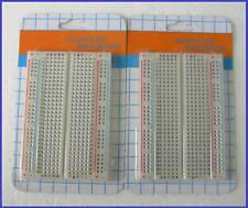 2pcs x 400 Pts Solderless Breadboard w Dovetail Slot