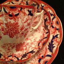 Shelley Wileman Foley Snowdrop Dainty Tea Cup And Saucerand Dessert Plate Trio
