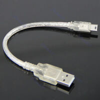 Short Extension Cable A Male to Mini 5-pin B Male USB Adapter Cable USB2.0