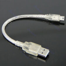 USB2.0 Short Extension Cable A Male to Mini 5-pin B Male USB Adapter Cable New