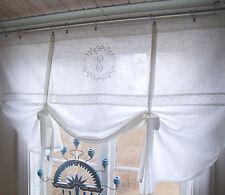 Raff Gardine CRYSTAL WEISS 140x120 LillaBelle Monogramm bestickt Rollo Curtain