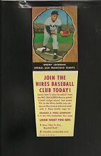 1958 Hires Root Beer # 62 Whitey Lockman NM+++