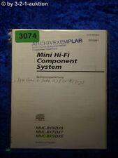 Sony Bedienungsanleitung MHC BX9 /DX9 /BX7 /DX7 /BX5 /DX5 (#3074)