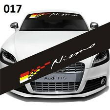 NISMO Car Front Window Windshield Matte Black Banner Decal Sticker For Nissan017