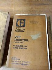 Caterpillar Cat D8K Tractor Parts Book