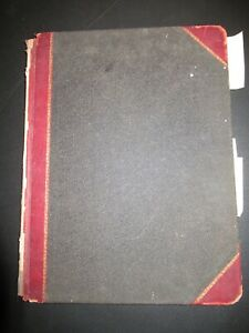 "Vtg. Leather Bound Ledger Standard B & P Columnar Book #23 76 Pages 11"" X 14"""