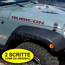 Scritte RUBICON adesivi fuoristrada Jeep Wrangler 4X4 off road LIMITED EDITION