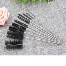 Home 10PC Nylon Stainless Steel Wire Pipe Tube Brush Bottle Spring Brush