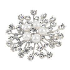 Flower Brooch For Women Fashion Brooches Pins Wedding Rhinestone Crystal Jewelry