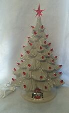 Vintage Ceramic Christmas Tree  mold made new Ohio decal  made in USA