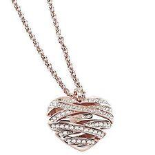 Modeschmuck-Halsketten & -Anhänger im Collier-Stil aus Edelstahl mit Herz-Schliffform