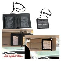 Safe Reach ID TM Car Visor Organizer License Registration Insurance Parking Pass