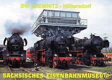 AK, Chemnitz - Hilbersdorf, ehem. Bahnwerk, Sächsisches Eisenbahnmuseum, 2000