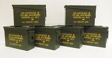 U.S. Military Ammo Cans .30 Caliber / 7.62MM - (lot of 6 cans) - M19A1