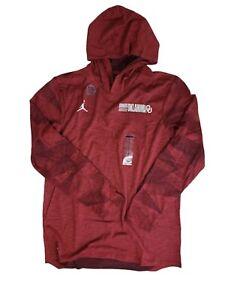 University of Oklahoma 【 Medium】Sooners Nike Dri-Fit Hooded Slub Shirt Jordan 🔥