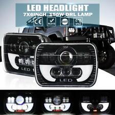 "2x 7x6"" 5x7 150W LED Headlight DRL Hi/Lo Beam DOT for Jeep Cherokee Dodge Pickup"