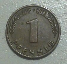 BRD, 1 Pfennig, 1949 F, Bank Deutscher Länder. Original Münze, keine Nachprägung