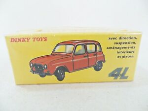 DINKY ATLAS/NOREV 518 'RENAULT 4L'. RED. MIB/BOXED. SEALED!
