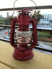 Rare Vintage Red Feuerhand #175 Super Baby With Original Mint Etched Globe