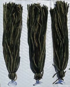 "Three 17"" Spawning Mops Camouflage 100 Strands + Suction Cup Killifish Tetra Gup"