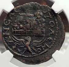 Trebonianus Gallus BIBLICAL Moses Mountain Gerizim Temple Roman Coin NGC i58874
