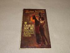 "Signet G2394 1963 1st Carter Brown ""CHARLIE SENT ME!"" Rober McGinnis G/VG"