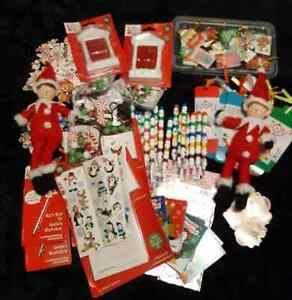 BULK CHRISTMAS ELF KIDS PARTY XMAS LOOT BAGS STOCKING FILLERS STUFFERS
