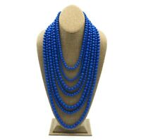 Baublebar Royal Blue 7 Strand Lucite Bead Fashion Necklace