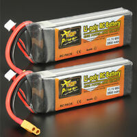2X 3S 11.1V 3500mAh 60C LiPo Battery T Plug for RC Car Boat Truck Heli Airplane