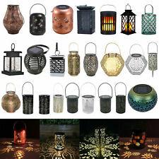 Outdoor Solar Lantern Hanging Light Led Pillar Yard Patio Lighting Garden Lamp