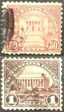 1922 50c & $1 regular Issues, Scott #570-71, Used, F-VF