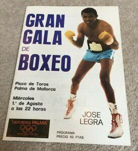 1973 Gran Gala de Boxeo programme, Mallorca Spain, Jose Legra v Jimmy Bell etc