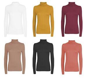 BNWT Womens Sz S 8 Smart Zara Brand Burgundy 3//4 Sleeve Roll Neck Stretch Top