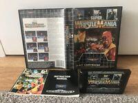 WWF SUPER WRESTLEMANIA SEGA MEGA DRIVE GENESIS GAME BOXED WITH MANUAL UK PAL VGC