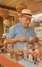 POPULAR SANTERO AT ANNUAL CRAFTMAN'S FAIR PUERTO RICO POSTCARD c1960s