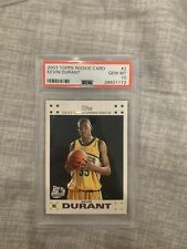 2007 Topps Basketball Kevin Durant ROOKIE RC #2 PSA 10 GEM MINT
