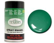 Testors JADE GREEN METAL FLAKE Enamel Spray Paint Can  3 oz. 1630