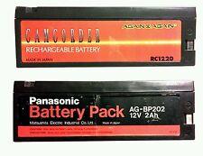 PANASONIC AG-PB202 + AGAIN & AGAIN RC1220 VHS REPORTER VIDEO CAMERA BATTERIES