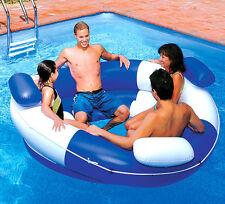 NEW Swimline Multi-Person Inflatable Sofa Island Lounge Family Pool Lake Beach